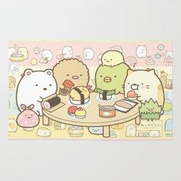 Animals Eat Sushi Rug