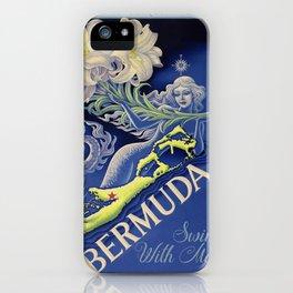 Vintage Mermaid Bermuda iPhone Case