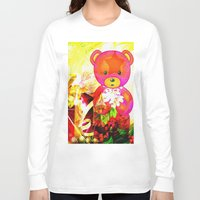 arnold Long Sleeve T-shirts featuring Arnold celebrates Christmas by shiva camille