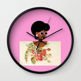Pink Sunglasses Girl Wall Clock