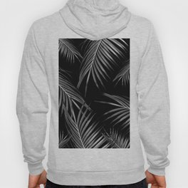 Silver Gray Black Palm Leaves Dream #1 #tropical #decor #art #society6 Hoody