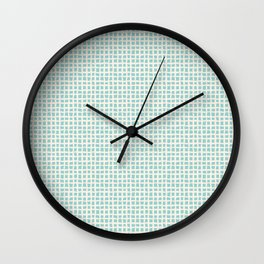 Blue Scribbles Pattern 02 Wall Clock