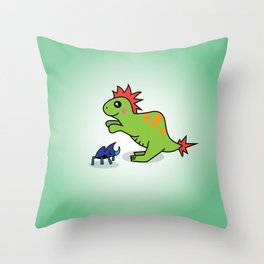 Gobi (and Bugsy) Throw Pillow