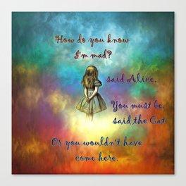 Wonderland Time - Alice In Wonderland Quote Canvas Print