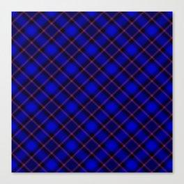 Scottish Fabric Blue Canvas Print