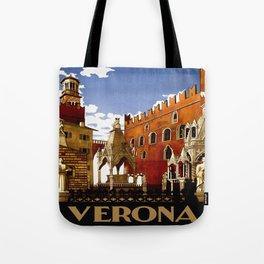 Vintage Verona Italy Travel Tote Bag