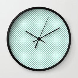 Opal Polka Dots Wall Clock