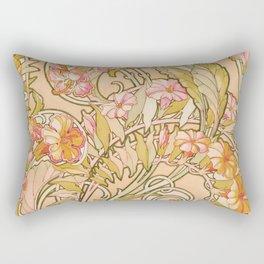 "Alphonse Mucha ""Convolvulus"" Rectangular Pillow"