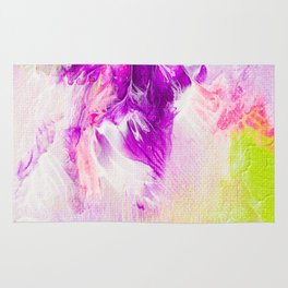 The joy of Paint -  bold abstract Painting Rug