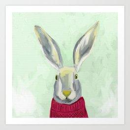 Warm Bunny Art Print