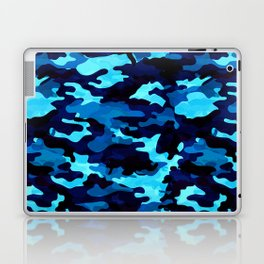 Camouflage (Blue) Laptop & iPad Skin