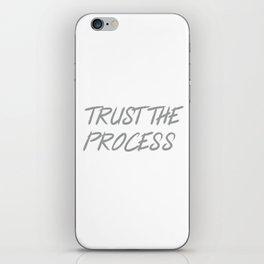 Trust The Process Workout Motivational Design iPhone Skin