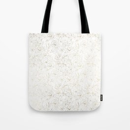 Elegant simple modern faux gold white floral Tote Bag