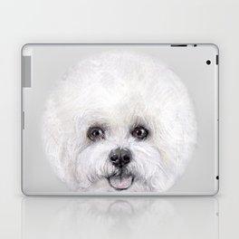 Bichon illustration, Dog illustration original painting print Laptop & iPad Skin