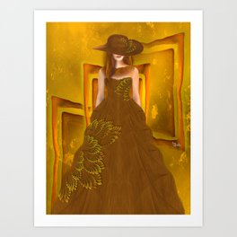 Autumn ball gown Art Print