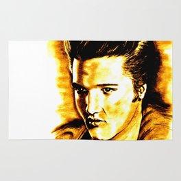 Elvis in Orange-Gold Rug