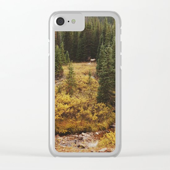 Rocky Mountain Creek Elk Clear iPhone Case