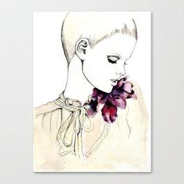 Fashion illustration (magenta bloom) Canvas Print