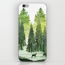 Green Forest iPhone Skin