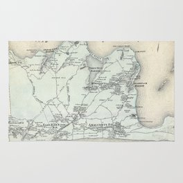 Vintage Map of East Hampton New York (1873) Rug