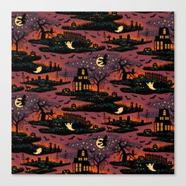 Halloween Night - Bonfire Glow Canvas Print