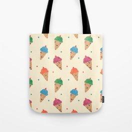 Fun Ice Cream Pattern Tote Bag