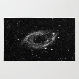 Helix Nebula Black and White Rug