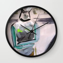 Cycladic Denial Wall Clock