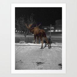 Loose Moose in the City Art Print