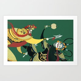 Beijing Opera Stage Fight Art Print