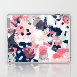 Hayes - abstract painting minimal trendy colors nursery baby decor office art Laptop & iPad Skin