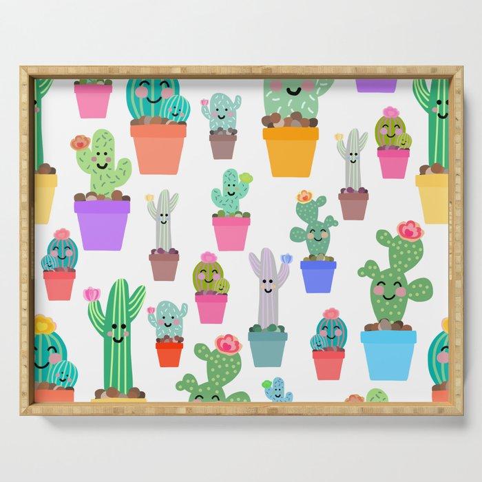 Sunny Happy Cactus Family Serving Tray