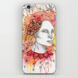 Floral Lady 2 iPhone Skin