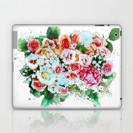 Rose Flower Bouquet Watercolor Laptop & iPad Skin