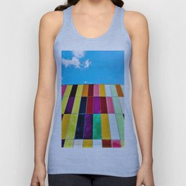 Abstract colorful modern building Unisex Tank Top