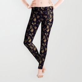 Purple Polka-Dotted Peents Leggings