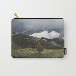 Landsape Waterton Meadow and Rolling Hills | Nature | Skyscape Clouds Carry-All Pouch