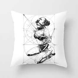 Restrained In Geometry. ©Yury Fadeev Throw Pillow