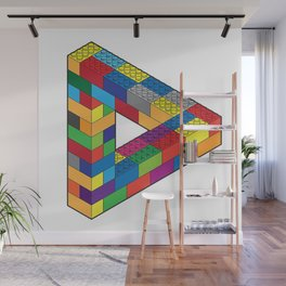 Play with Me: Penrose Toy Triangle Impossible Object Illusion Wall Mural