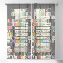 VHS Stack Sheer Curtain