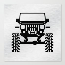 Jeep Nice Chrome Canvas Print