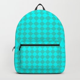 Cyan and Turquoise Diamonds Backpack