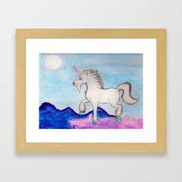 Crystal Unicorn Framed Art Print