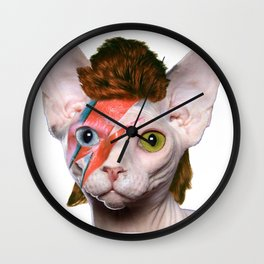 Bowie Cat Wall Clock