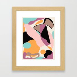 Minimal abstract shapes Framed Art Print
