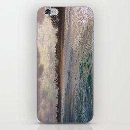 Stormy Coastline, rain clouds and sunlight iPhone Skin