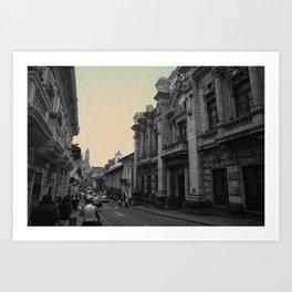 Quito Blue Art Print