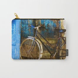 Blue Bicycle Carry-All Pouch