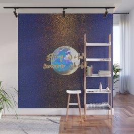 Stay Wild Moon Child Glitter Moon Wall Mural