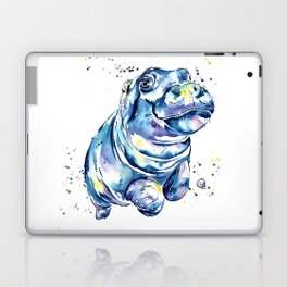 Hippo Colorful Watercolor Hippo Painting - Grace Laptop & iPad Skin